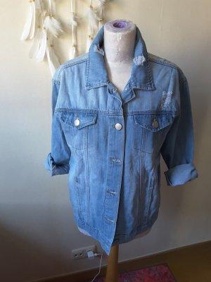 ASHLEY MASON Veste en jean bleu azur