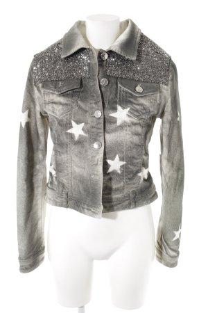 Jeansjacke mehrfarbig extravaganter Stil