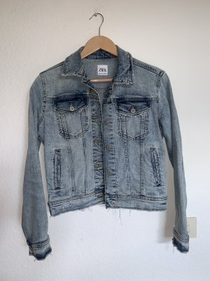 Jeansjacke, usedlook, short