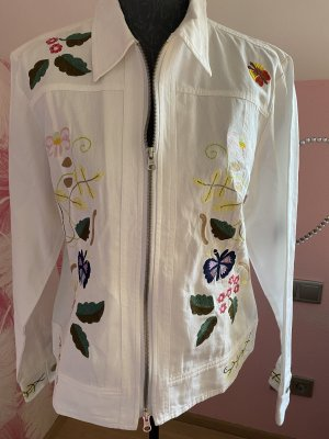 Jeansjacke  von  Alba Moda Größe  44, bestickt, Neu ohne Etikett