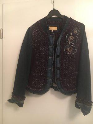 BIBA pariscop Jeansowa kurtka ciemnoniebieski-brązowo-fioletowy