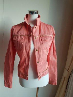 Fendi Jeansowa kamizelka w kolorze różowego złota