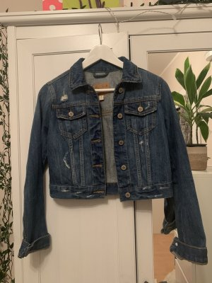 Hollister Denim Jacket blue-dark blue