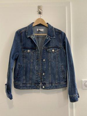 Mango Veste en jean bleu-bleu foncé