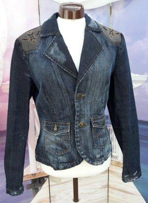 Jeansjacke von MEXX mit Strechtanteil und veganem Leder