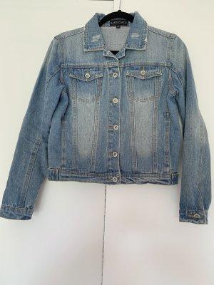 Jeansjacke von SassyClassy mit Aufdruck Hellblau Größe M 38
