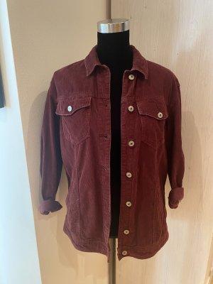 Lefties Denim Jacket bordeaux-brown red