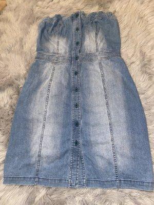 3suisses collection premium Denim Dress cornflower blue-white cotton
