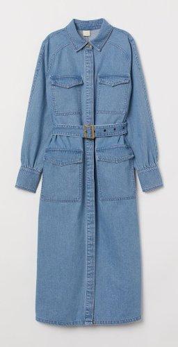 H&M Conscious Collection Jersey Dress azure