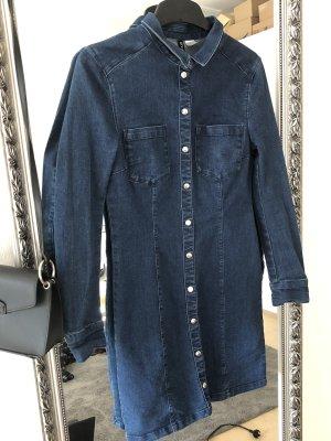 H&M Robe en jean bleu-bleu foncé