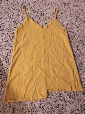 Robe en jean jaune