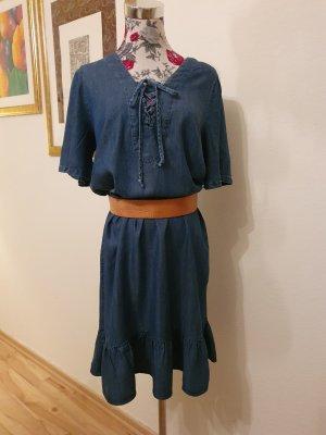 Best Connections Robe en jean bleu acier-bleuet