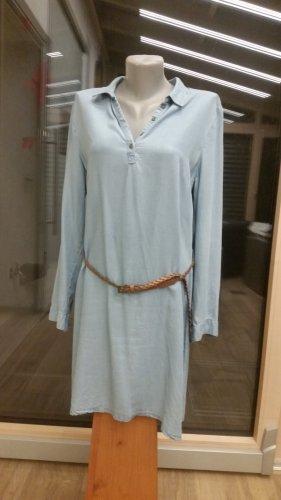 Manguun Vestido vaquero azul pálido