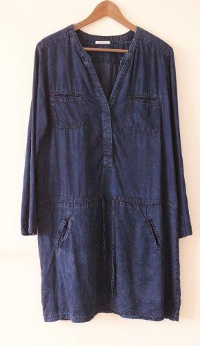 Promod Vestido vaquero azul oscuro lyocell