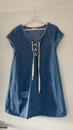 Breuninger Robe en jean bleu azur-bleu clair