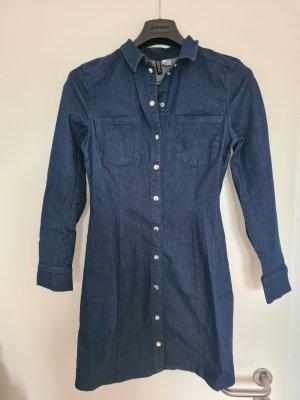 Devided von H&M Jeansjurk donkerblauw Katoen
