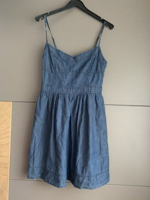 Amisu Jeansjurk donkerblauw