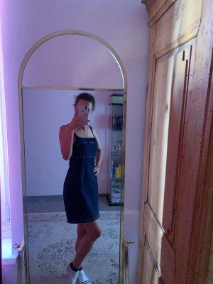 Rainbow Denim Dress dark blue