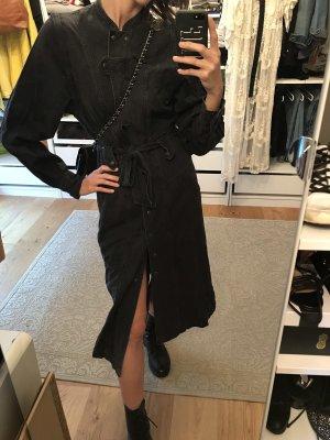 H&M Abito denim nero-antracite Cotone