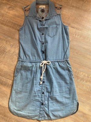 Twintip Denim Dress cornflower blue