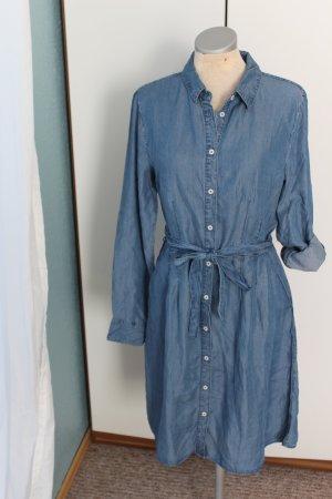 Jeanskleid blau neu Denim Gr. 34 36 Langarm