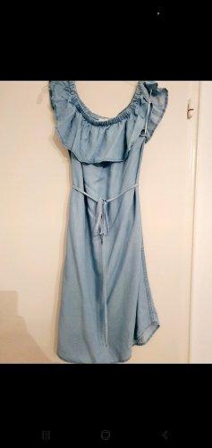 H&M Off the shoulder jurk azuur