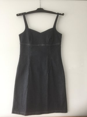 Comma Denim Dress dark blue cotton