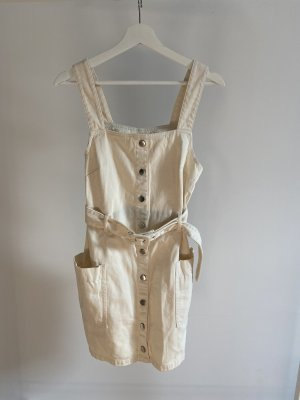 H&M Robe en jean crème-blanc cassé