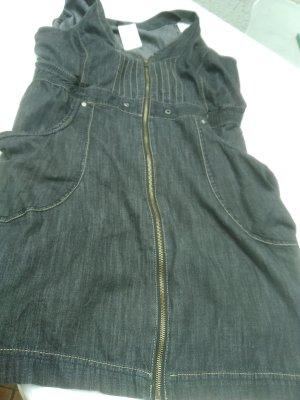 Jeansjurk zwart Katoen