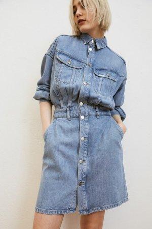 Lee x H&M Jeansowa sukienka chabrowy-szary niebieski