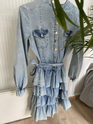 Jeansowa sukienka jasnoniebieski