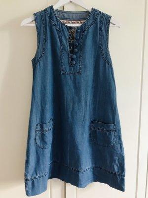Jeanskleid Fashion Style Blogger Süße Jeans Kleid
