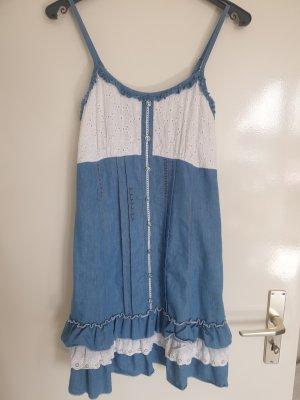 aus Italien A Line Dress white-azure