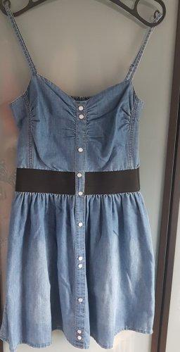 Jeansjurk zwart-blauw