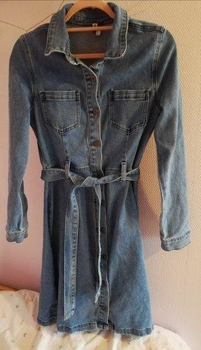 Takko Robe en jean bleu acier