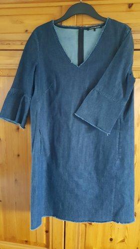 Luisa Cerano Vestido vaquero azul acero Algodón