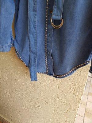 Jeansjurk blauw-staalblauw