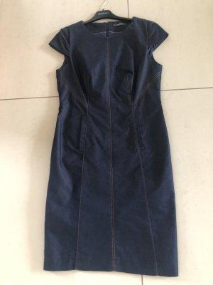 Esprit Vestido vaquero azul oscuro-marrón
