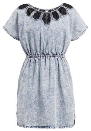 Khujo Jeansowa sukienka błękitny-ciemnoniebieski