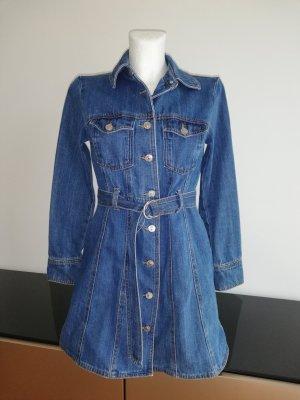 Zara Woman Robe en jean bleu