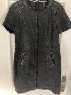 Marc Cain Denim Dress anthracite cotton