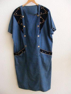 unknown Denim Dress dark blue-blue cotton