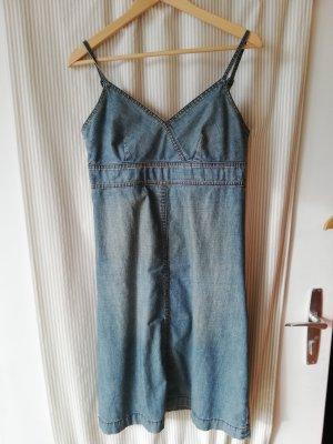 Jeanskleid mit Spagetti Träger