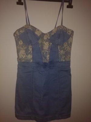 Jeanskleid mit Spitze von Zara gr. 36