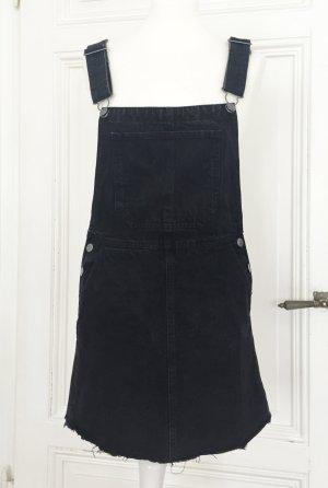 Jeanskleid mit Trägern in dunkelgrau / schwarz NEU von Bershka Denim