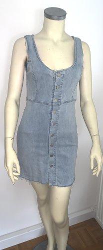 Jeansowa sukienka stalowy niebieski-błękitny