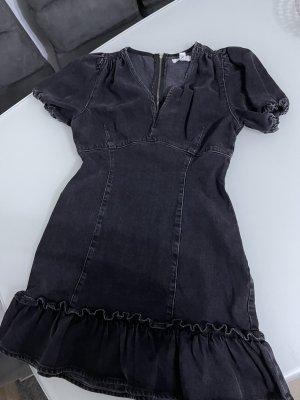 Jeanskleid schwarz kurzarm minikleid