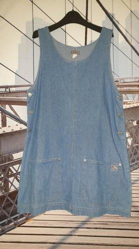 Vintage Jeansjurk zilver-blauw