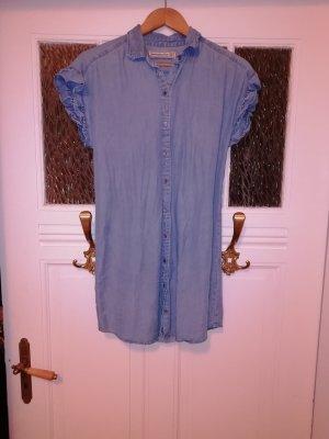Abercrombie & Fitch Denim Dress slate-gray-pale blue