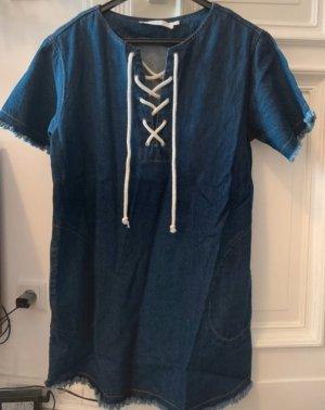 ASTR Robe en jean bleu foncé